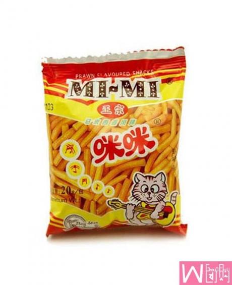 马来西亚特产咪咪虾条蟹块 20g X 10包