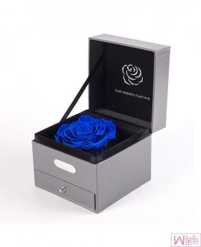 浪漫礼物蓝色妖姬大朵玫瑰永生花音乐礼盒,送女友最佳选择,永不枯萎的恋爱,包邮