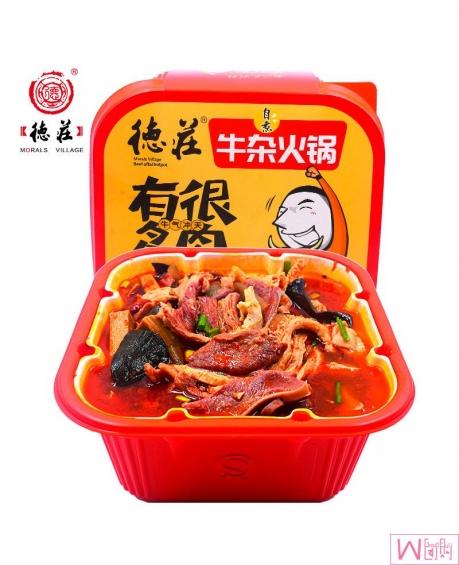 重庆德庄自热牛杂火锅480g