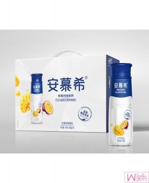 伊利安慕希酸奶 10瓶/整箱,高端畅饮型PET芒果百香果味/原味,包邮