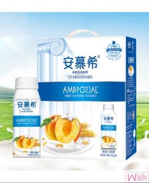 Yi Li An Mu Xi Ambpoeial Greek Flavered Oat Yogurt - 1 Box/12bottles