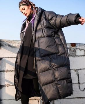 2019 winter new loose Korean bf long coat