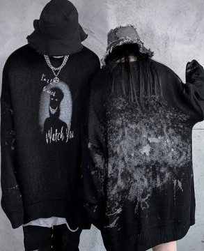 Fashion Dark Ghosts and Men's Knit Sweater