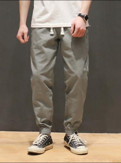 Maceda Japanese tide brand cargo casual pants, 小脚休闲裤修身束脚裤收脚裤子男长裤