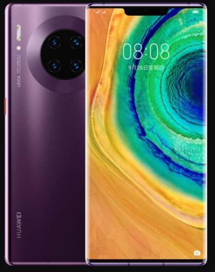 Huawei Mate 30 Pro Phone, Huawei/华为Mate 30 Pro超级快充麒麟990徕卡四摄4G智能手机mate30pro 旗舰芯片麒麟990