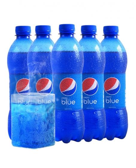 Indonesian Bali Imports Blue Pepsi 450ml *12 bottles, 网红印尼进口巴厘岛blue百事可乐450ml*12瓶整箱装蓝色梅子味饮料,包邮