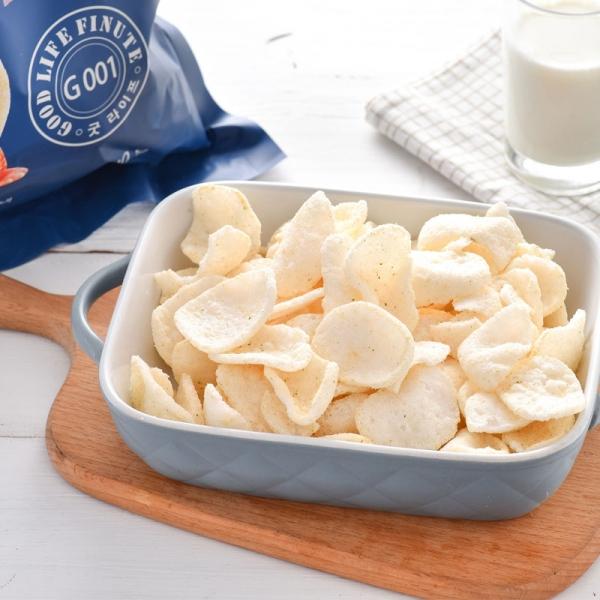 GOOD LIFE FINUTE Shrimp Chips Garlic Flavor 240g, GOOD LIFE FINUTE 趣莱福 韩国进口 蒜味虾片 240g大包,包邮