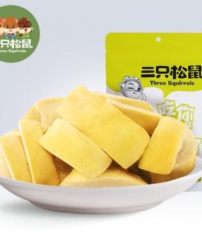 Three squirrels freeze-dried durian 30gx2bags