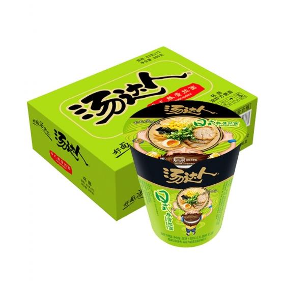 Tang Da Ren Japanese Style Bone Ramen 83g*4 cups Instant Noodles, 统一生活面 汤达人日式豚骨拉面83g*4杯 方便面泡面,包邮