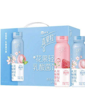 Meng Niu Flower and Fruit Light Milk Lactic Acid Bacteria Drink 230g*10 Bottles