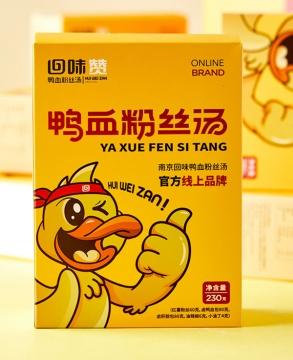 回味赞 方便面酸辣粉速食夜宵 地方特产南京回味鸭血粉丝汤 x 2盒