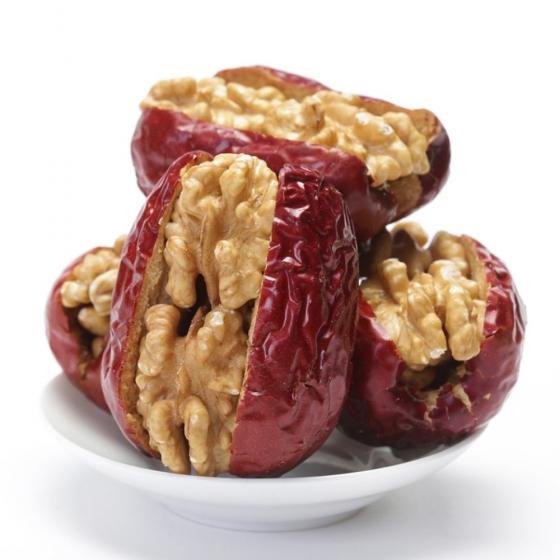 Hetian jujube with walnuts 500g, 和田大枣夹核桃500克 夹心枣骏枣包核桃仁特级和田大枣独立小包装