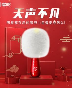 Chang Ba Bluetooth Wireless Karaoke Microphone with Speaker,Changba Microphone, Portable Handheld Microphone, Karaoke Machine for Android/iPhone/PC G2