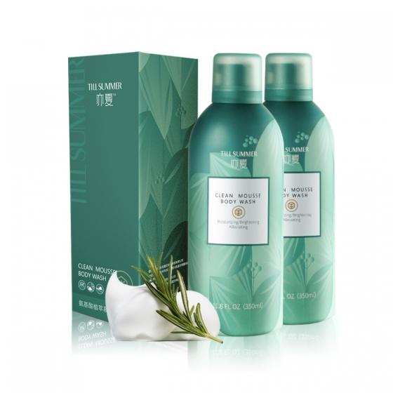 Till summer Amino Acid Plant Extract Mousse Body Wash 350g*2, 蓝风铃同香,浴后水润不紧绷