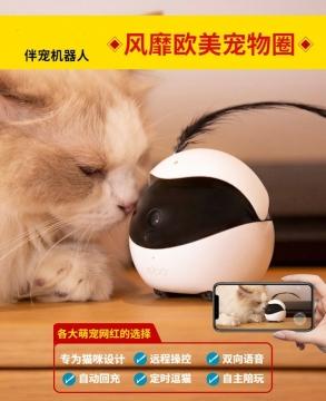Pet intelligent robot automatic cat toy remote monitoring camera