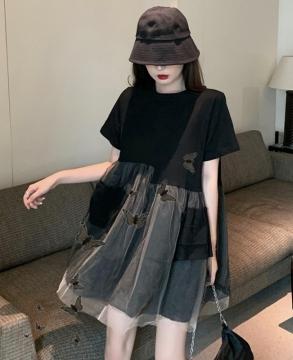 New high waist design super xiansen series splicing slim skirt