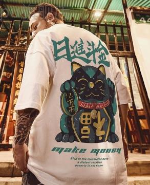 8/5000  China fashion T-shirt fat men's clothing